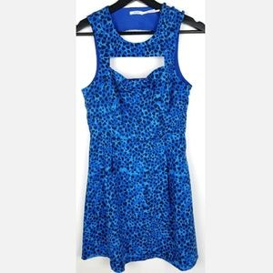 Kimchi Blue Dress Cheetah Heart Bow Open Front